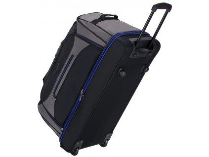 """Cestovní taška na kolečkách SIROCCO T-7554/30"""" - černá/šedá/modrá  + Brašna zdarma"""