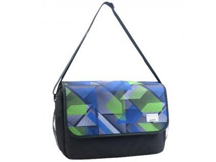 Taška přes rameno OBSESSED 7311o Dynamic - modrá/zelená