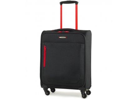 Kabinové zavazadlo MEMBER'S TR-0137/3-S - černá  + Pouzdro zdarma