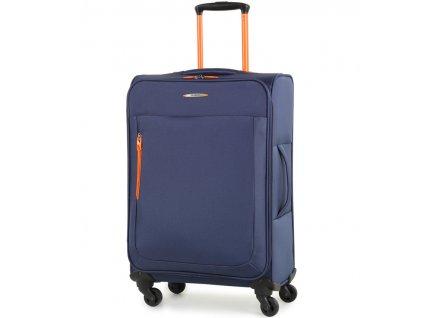 Cestovní kufr MEMBER'S TR-0137/3-M - modrá  + PowerBanka nebo pouzdro zdarma