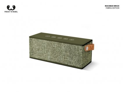 FRESH ´N REBEL Rockbox Brick Fabriq Edition Bluetooth reproduktor, vojenská zelená