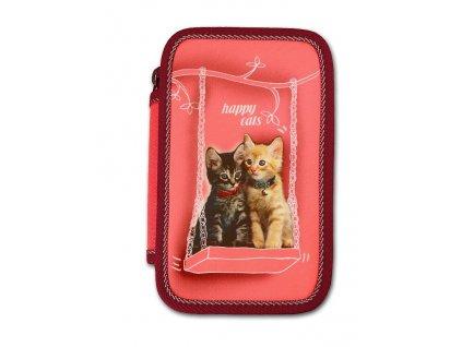 Školní penál 2-patra Happy cats