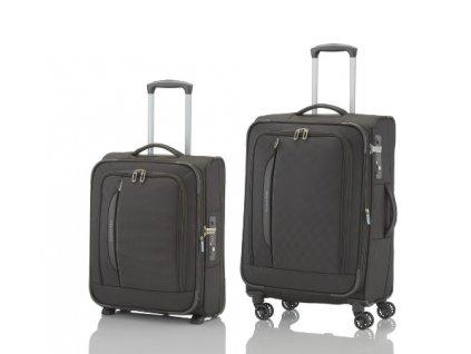 Travelite CrossLITE 2w S, 4w M Black - sada 2 kufrů
