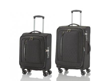 Travelite CrossLITE 4w S, M Black - sada 2 kufrů
