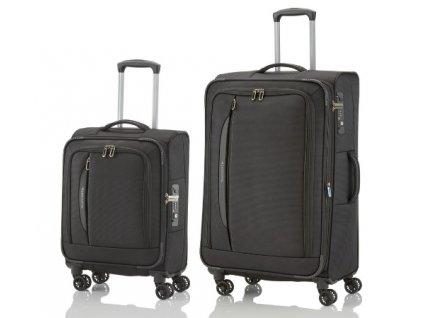 Travelite CrossLITE 4w S, L Black - sada 2 kufrů