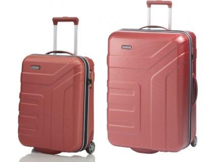 Travelite Vector 2w S, L Coral - sada 2 kufrů