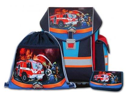 Školní aktovkový set ERGO ONE Rescuer 3-dílný  + Pouzdro zdarma