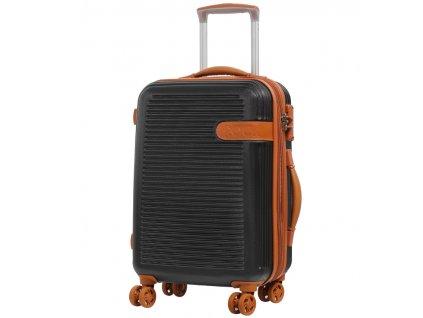 Kabinové zavazadlo ROCK TR-0159/3-S ABS - černá  + PowerBanka nebo pouzdro zdarma