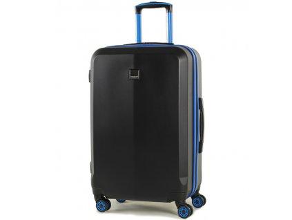 Cestovní kufr MEMBER'S TR-0150/3-M ABS - černá/modrá  + PowerBanka nebo pouzdro zdarma
