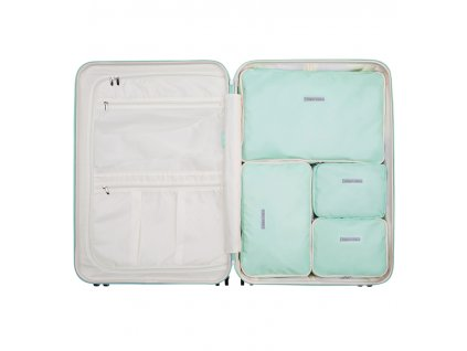 Sada obalů SUITSUIT® Perfect Packing system vel. L Luminous Mint  + Pouzdro zdarma