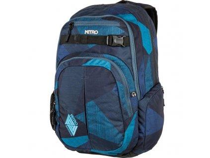 NITRO batoh CHASE fragments blue  + Pouzdro zdarma
