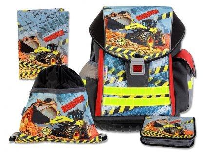 Školní batohový set ERGO TWO Builder 4-dílný  + Brašna zdarma