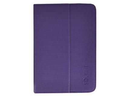 Solight univerzální pouzdro - desky z polyuretanu pro tablet nebo čtečku 7'', fialové