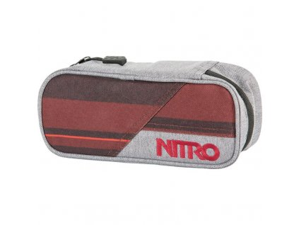 NITRO penál PENCIL CASE red stripes