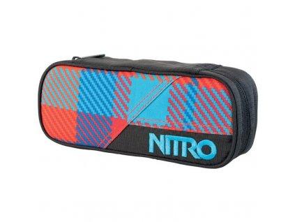 NITRO penál PENCIL CASE plaid red-blue