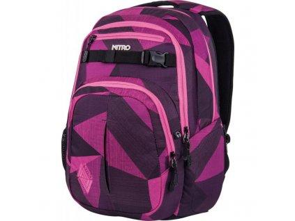 NITRO batoh CHASE fragments purple  + Pouzdro zdarma