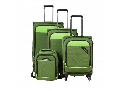 Travelite Derby 4w S,M,L Green – sada 3 kufrů + Board Bag  + Pouzdro zdarma