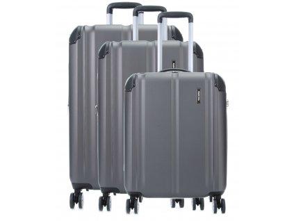 Travelite City 4w S,M,L Anthracite – sada 3 kufrů  + Pouzdro zdarma