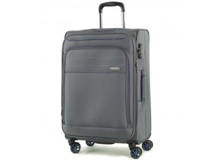 Cestovní kufr ROCK TR-0162/3-M - šedá  + PowerBanka nebo pouzdro zdarma + Dodatečná velikonoční sleva 10 %