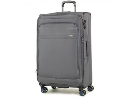 Cestovní kufr ROCK TR-0162/3-L - šedá  + PowerBanka nebo pouzdro zdarma + Dodatečná velikonoční sleva 10 %