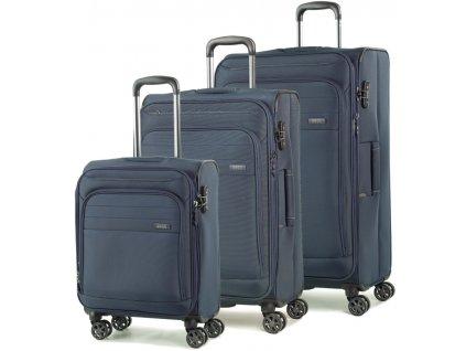Sada cestovních kufrů ROCK TR-0162/3 - tmavě modrá  + PowerBanka nebo pouzdro zdarma