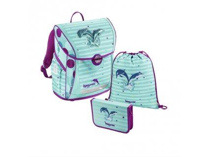 107788 skolni aktovka 3 dilny set baggymax fabby delfinci