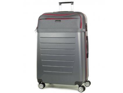 Cestovní kufr ROCK TR-0166/3-L ABS/PES - charcoal  + PowerBanka nebo pouzdro zdarma