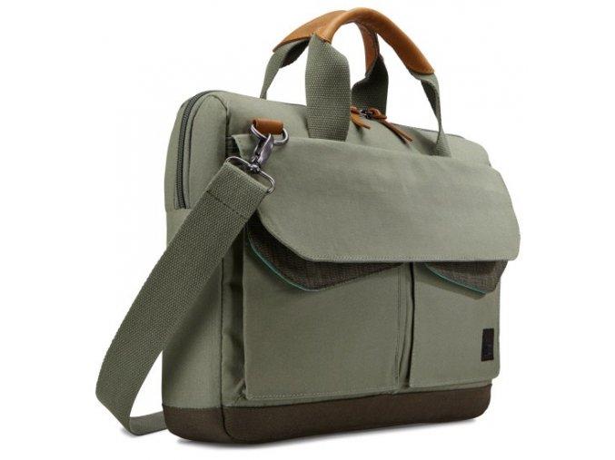 """Case Logic LoDo taška na notebook 15,6"""" LODA115PTG - zelená  + Pouzdro zdarma"""