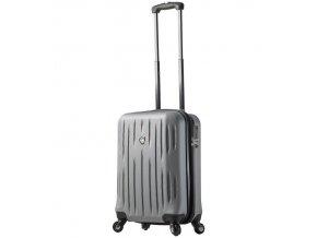 Kabinové zavazadlo MIA TORO M1212/3-S - stříbrná  + Pouzdro zdarma