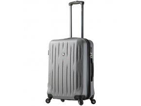 Cestovní kufr MIA TORO M1212/3-L - stříbrná  + PowerBanka nebo pouzdro zdarma