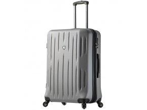 Cestovní kufr MIA TORO M1212/3-XL - stříbrná  + PowerBanka nebo pouzdro zdarma