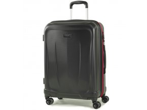 Cestovní kufr ROCK TR-0165/3-M ABS - černá  + PowerBanka nebo pouzdro zdarma