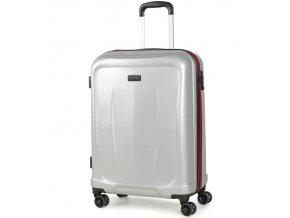 Kabinové zavazadlo ROCK TR-0165/3-S ABS - stříbrná  + Pouzdro zdarma