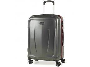 Cestovní kufr ROCK TR-0165/3-M ABS - charcoal  + PowerBanka nebo pouzdro zdarma