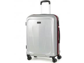 Cestovní kufr ROCK TR-0165/3-M ABS - stříbrná  + PowerBanka nebo pouzdro zdarma