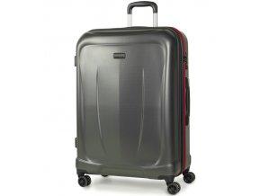 Cestovní kufr ROCK TR-0165/3-L ABS - charcoal  + PowerBanka nebo pouzdro zdarma