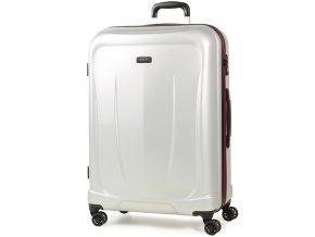 Cestovní kufr ROCK TR-0165/3-L ABS - stříbrná  + PowerBanka nebo pouzdro zdarma