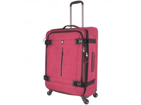 Cestovní kufr MIA TORO M1135/3-M - červená  + PowerBanka nebo pouzdro zdarma