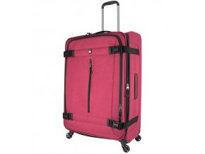Cestovní kufr MIA TORO M1135/3-L - červená  + PowerBanka nebo pouzdro zdarma