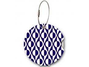 Jmenovka na kufr Addatag - Japan Blue