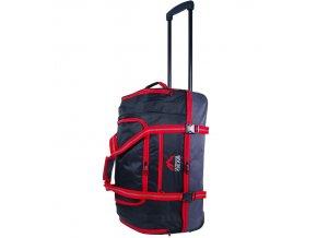 """Cestovní taška na kolečkách GEAR T-805/22"""" - černá/červená  + Pouzdro zdarma"""