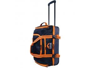 """Cestovní taška na kolečkách GEAR T-805/22"""" - černá/oranžová  + Pouzdro zdarma"""