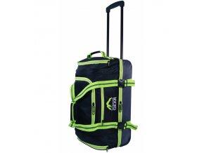 """Cestovní taška na kolečkách GEAR T-805/22"""" - černá/zelená  + Pouzdro zdarma"""