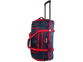 """Cestovní taška na kolečkách GEAR T-805/26"""" - černá/červená  + Pouzdro zdarma"""