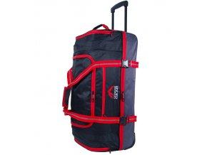 """Cestovní taška na kolečkách GEAR T-805/30"""" - černá/červená  + Pouzdro zdarma"""