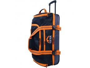 """Cestovní taška na kolečkách GEAR T-805/30"""" - černá/oranžová  + PowerBanka nebo pouzdro zdarma"""