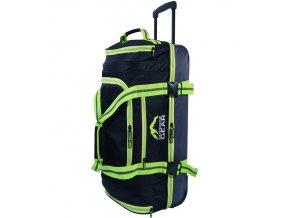 """Cestovní taška na kolečkách GEAR T-805/30"""" - černá/zelená  + Pouzdro zdarma"""