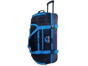 """Cestovní taška na kolečkách GEAR T-805/30"""" - černá/modrá  + Pouzdro zdarma"""