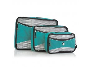 Heys Ecotex Packing Cube Set Turquoise – sada 3 ks