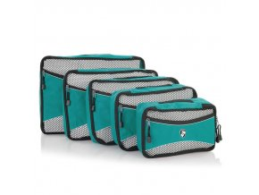 Heys Ecotex Packing Cube Set Turquoise – sada 5 ks